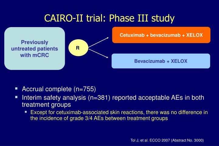 CAIRO-II trial: Phase III study