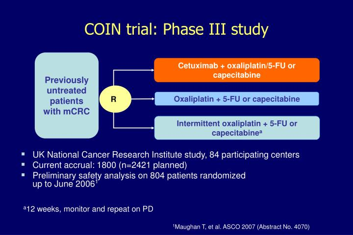 COIN trial: Phase III study