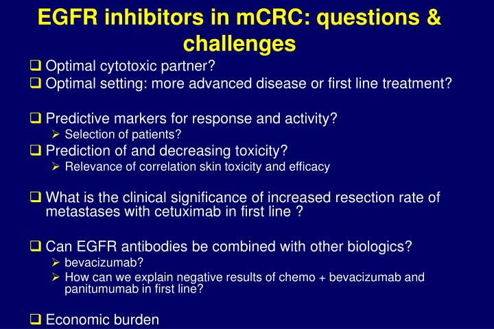 EGFR inhibitors in mCRC: questions & challenges