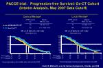 pacce trial progression free survival ox ct cohort interim analysis may 2007 data cutoff