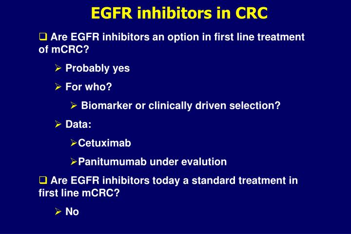 EGFR inhibitors in CRC