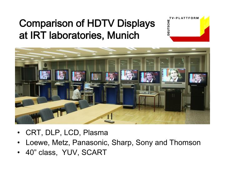 Comparison of HDTV Displays
