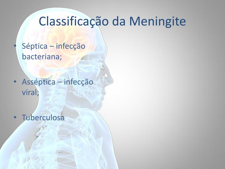 Classifica o da meningite