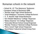 romanian schools in the network