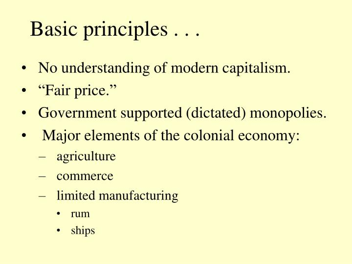 Basic principles . . .