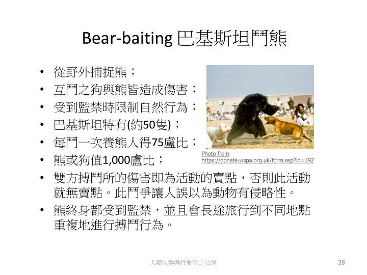 Bear-baiting