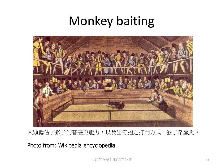 Monkey baiting