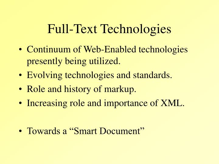 Full-Text Technologies