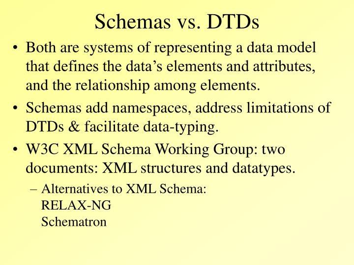 Schemas vs. DTDs