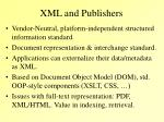 xml and publishers1