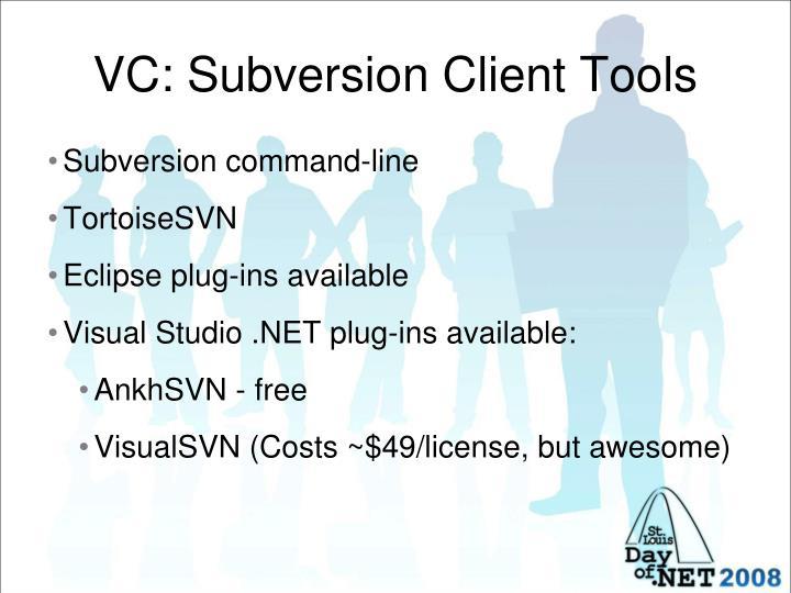 VC: Subversion Client Tools