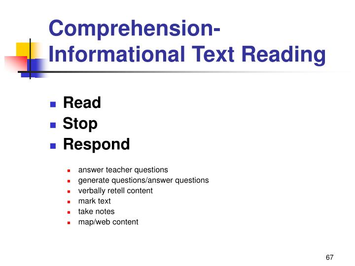 Comprehension-Informational Text Reading
