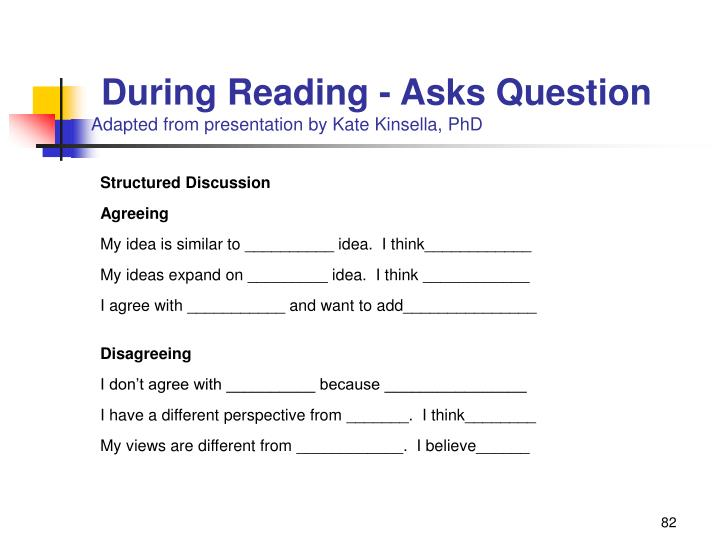 During Reading - Asks Question