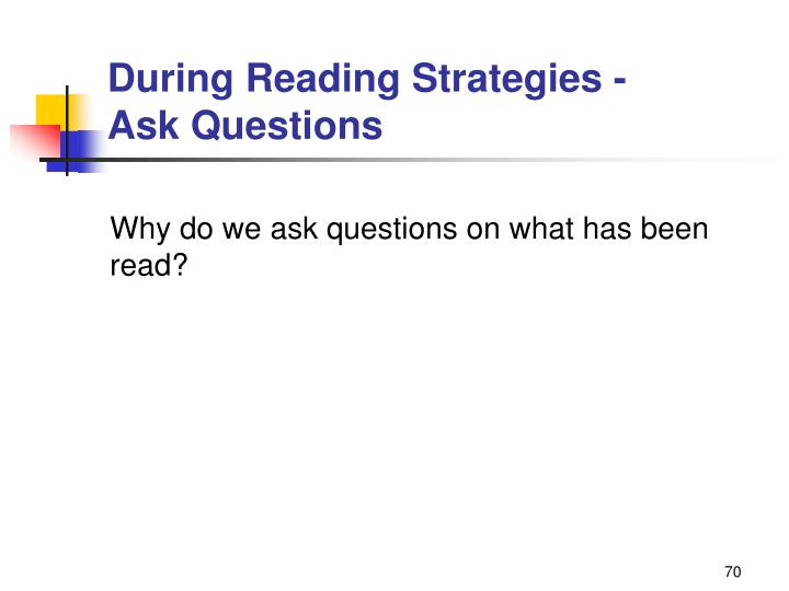 During Reading Strategies -