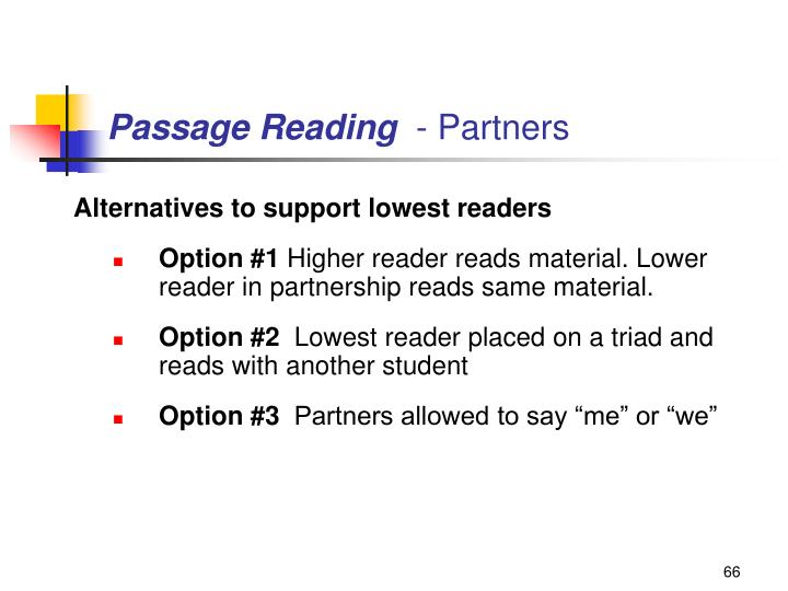 Passage Reading