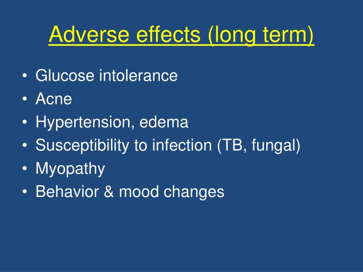 Adverse effects (long term)