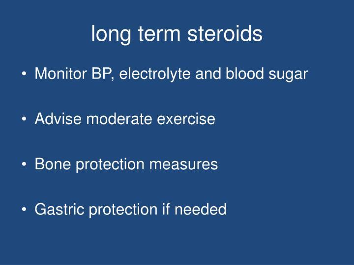 long term steroids
