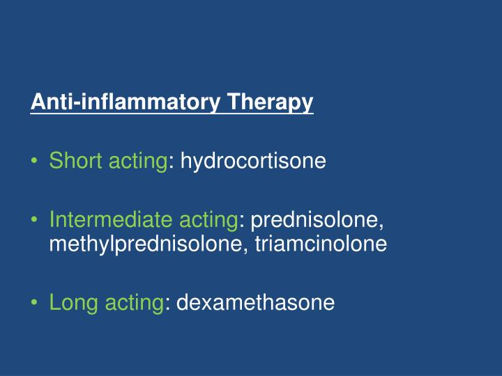 Anti-inflammatory Therapy