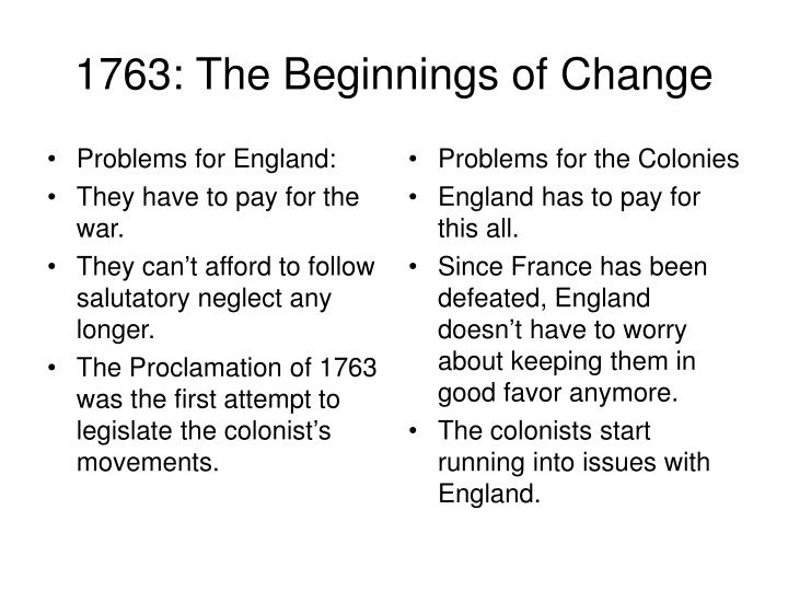 Problems for the Colonies