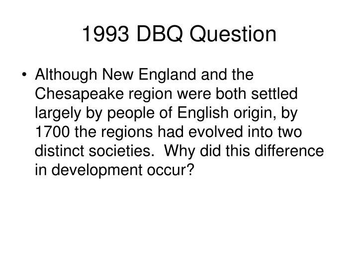 1993 DBQ Question