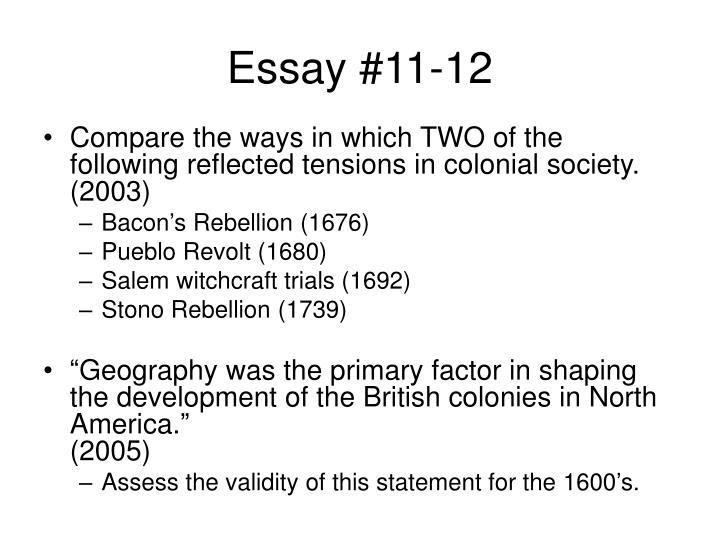 Essay #11-12
