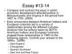 essay 13 14