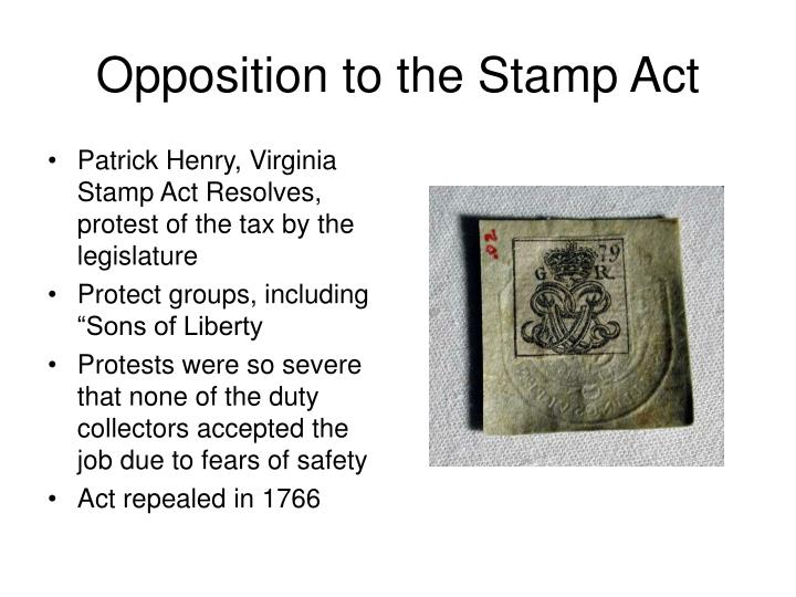 Opposition to the Stamp Act