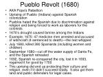 pueblo revolt 1680