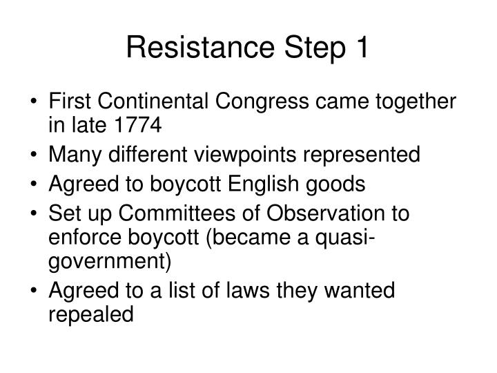 Resistance Step 1
