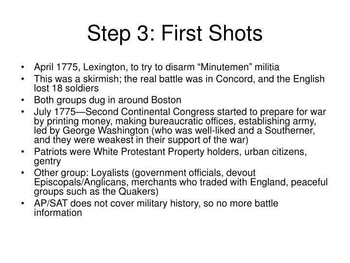 Step 3: First Shots