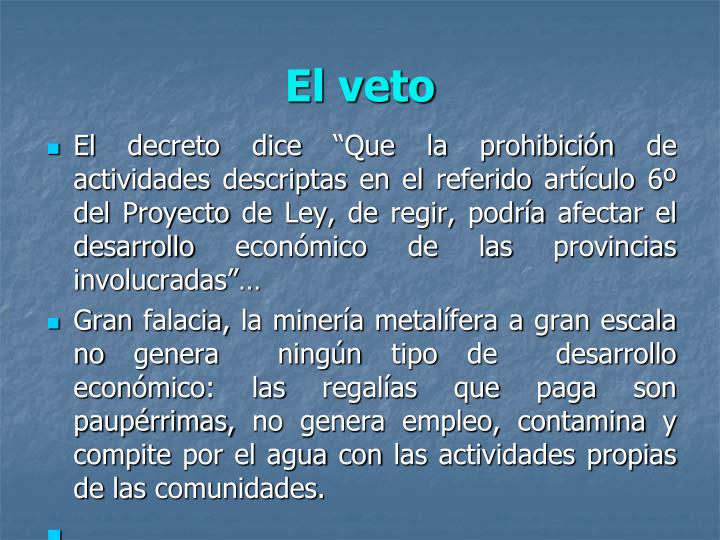 El veto