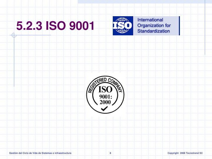 5.2.3 ISO 9001