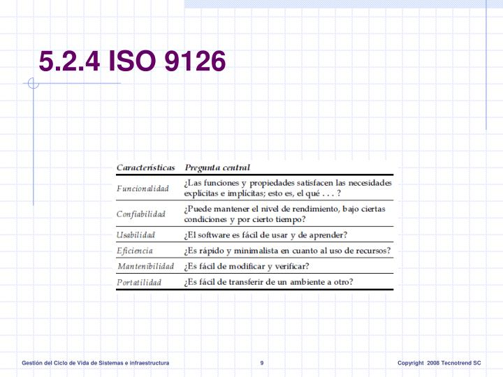 5.2.4 ISO 9126