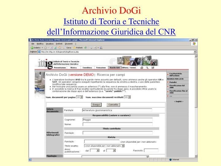 Archivio DoGi