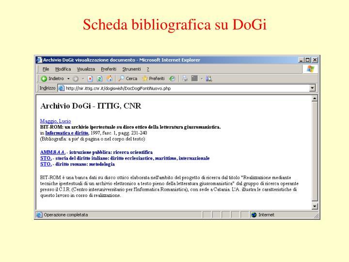 Scheda bibliografica su DoGi