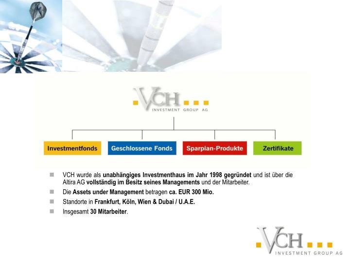 VCH wurde als
