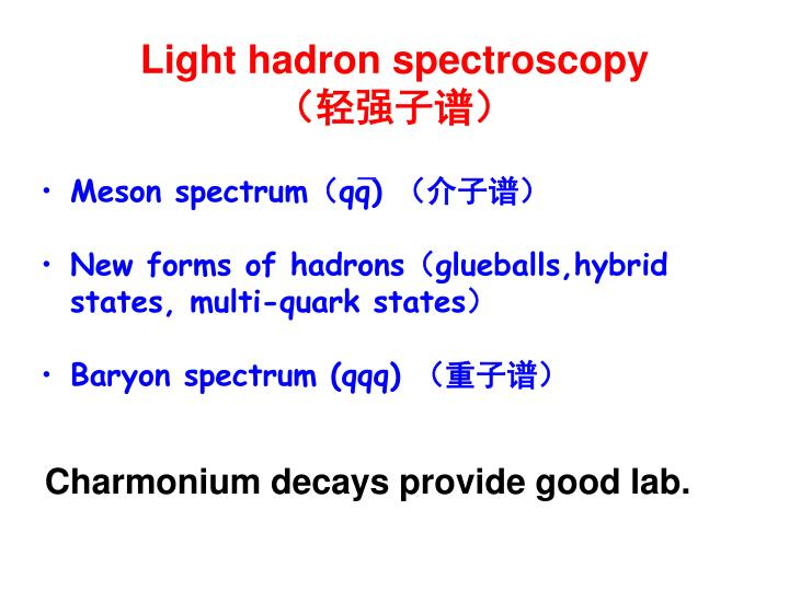 Light hadron spectroscopy