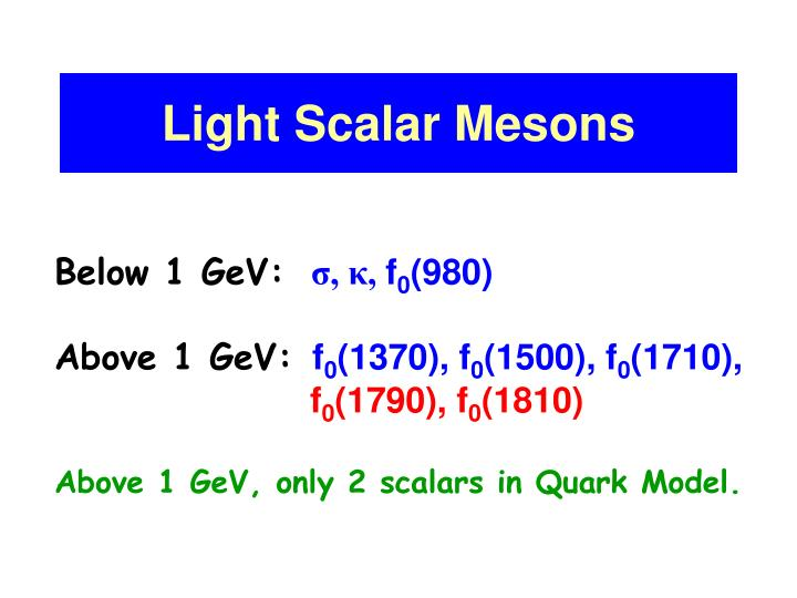 Light Scalar Mesons
