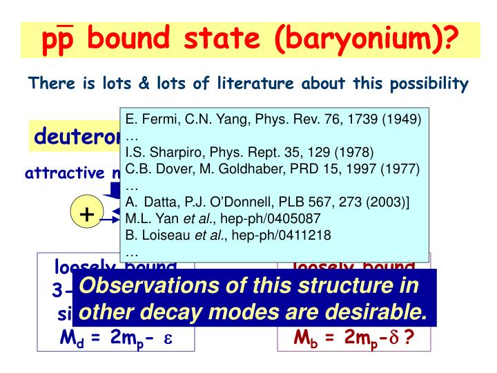 pp bound state (baryonium)?