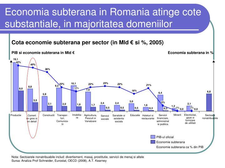 Economia subterana in Romania atinge cote substantiale, in majoritatea domeniilor
