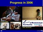 progress in 2006