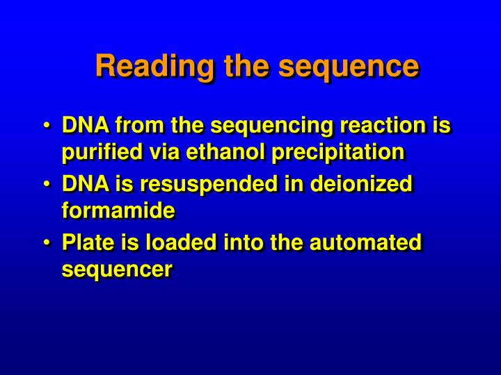 Reading the sequence