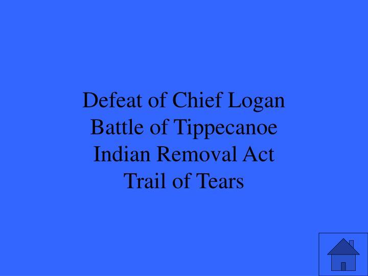 Defeat of Chief Logan