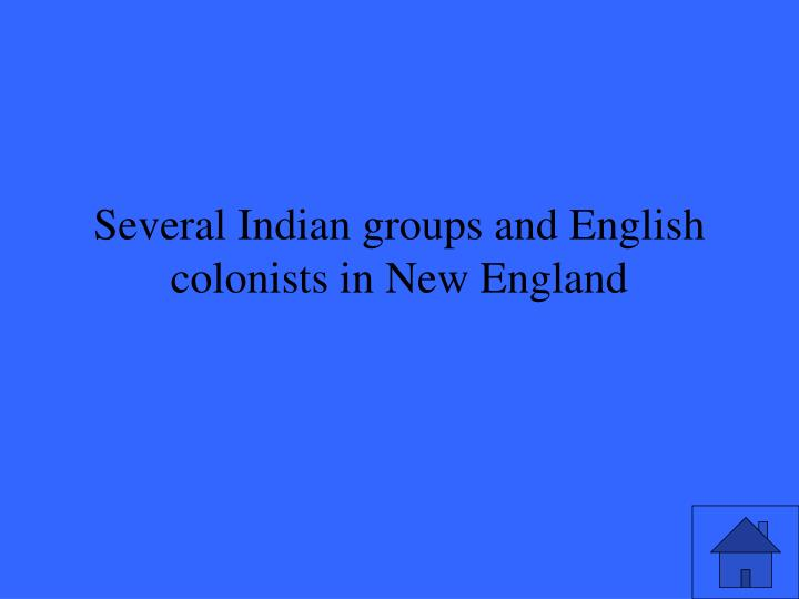 Several Indian groups and English colonists in New England