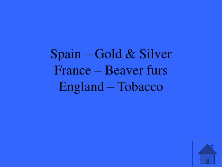 Spain – Gold & Silver