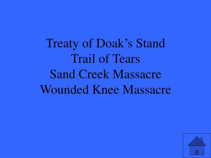 Treaty of Doak's Stand