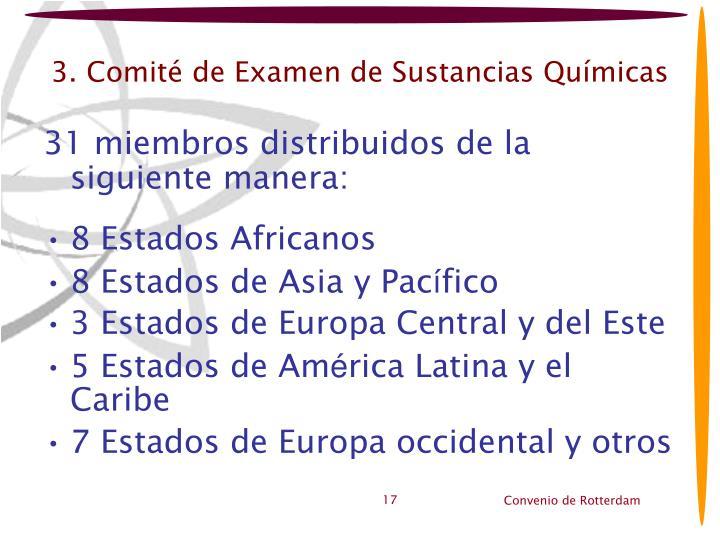 3. Comité de Examen de Sustancias Químicas