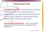 disposiciones clave1