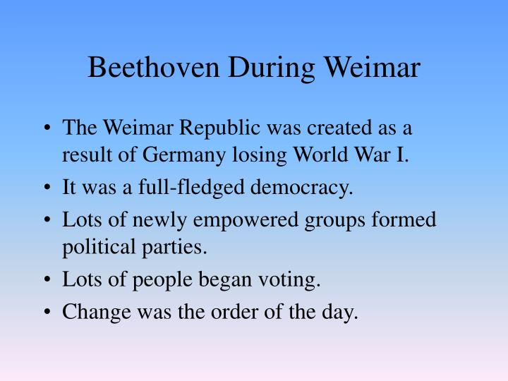 Beethoven during weimar