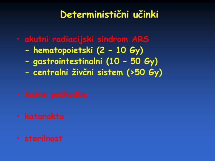Deterministični učinki